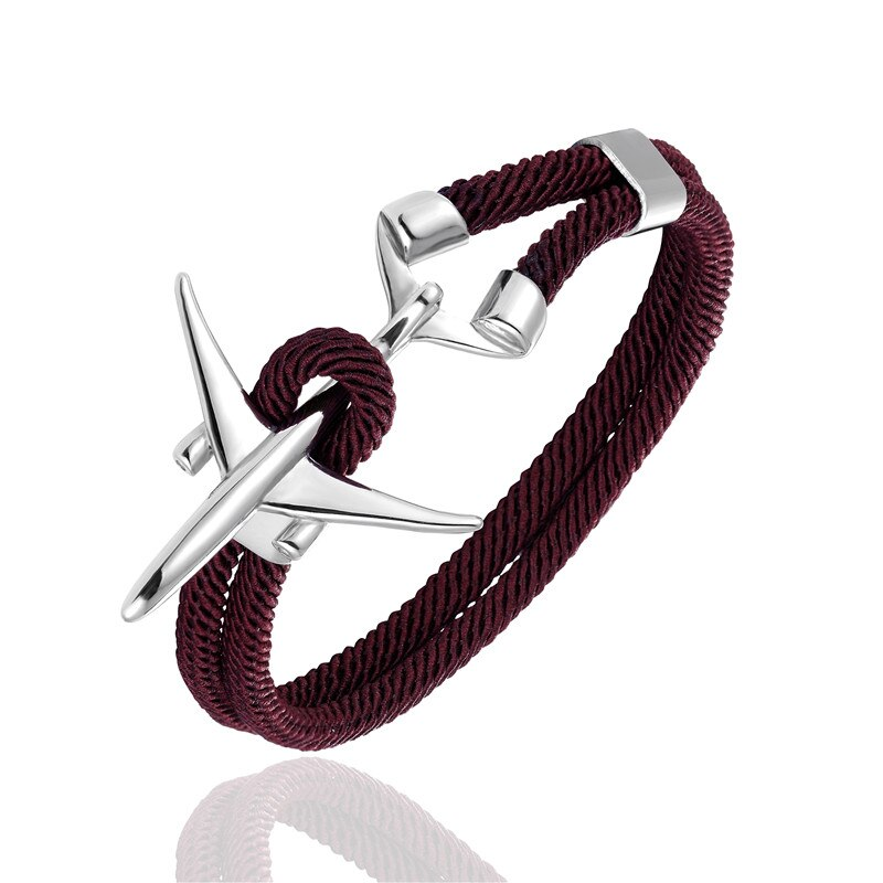Bracelet Avion Homme Bordeaux