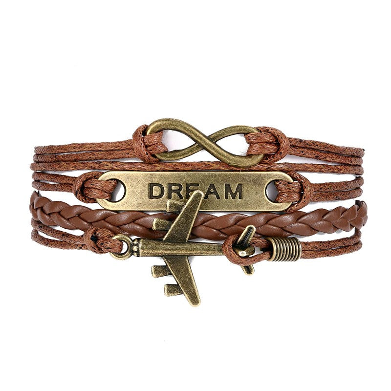 Bracelet Avion Femme <br> Dream Marron