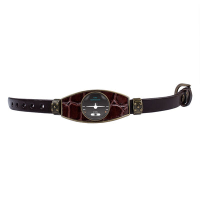 Bracelet Avion indicateur de virage Marron