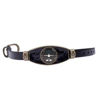 Bracelet Avion indicateur de virage noir