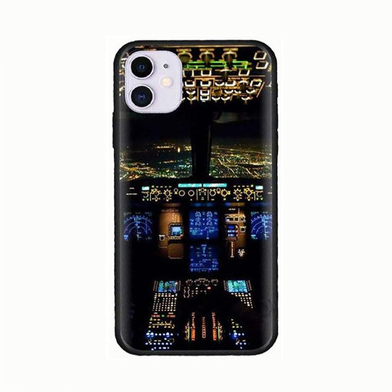 Coque Avion IPhone<br>Cockpit de Nuit