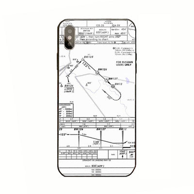 Coque Avion IPhone Carte IAC Blanche
