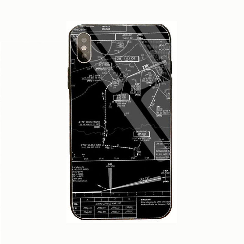 Coque avion IPhone <br> Carte IAC