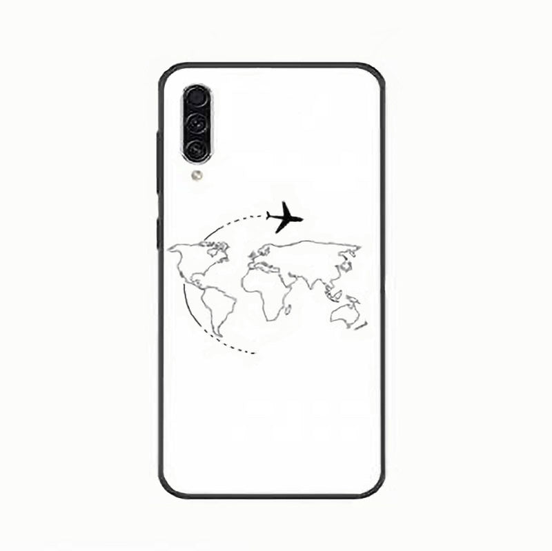 Coque Avion Samsung Dessins Divers Coeur Fond Gris