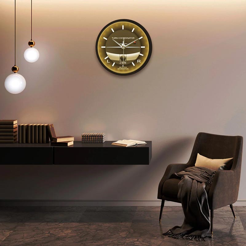 Horloge Avion <br> indicateur de Virage Led