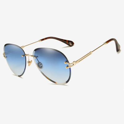 Lunettes Aviatrice Bleues