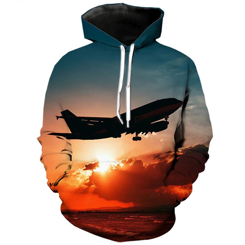 Pull Avion <br> Long courrier Crépuscule