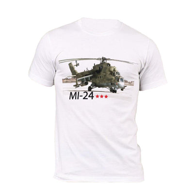 T-shirt Helicoptere MI-24 Blanc