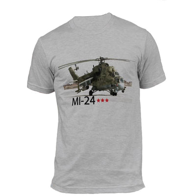 T-shirt Helicoptere MI-24 Gris