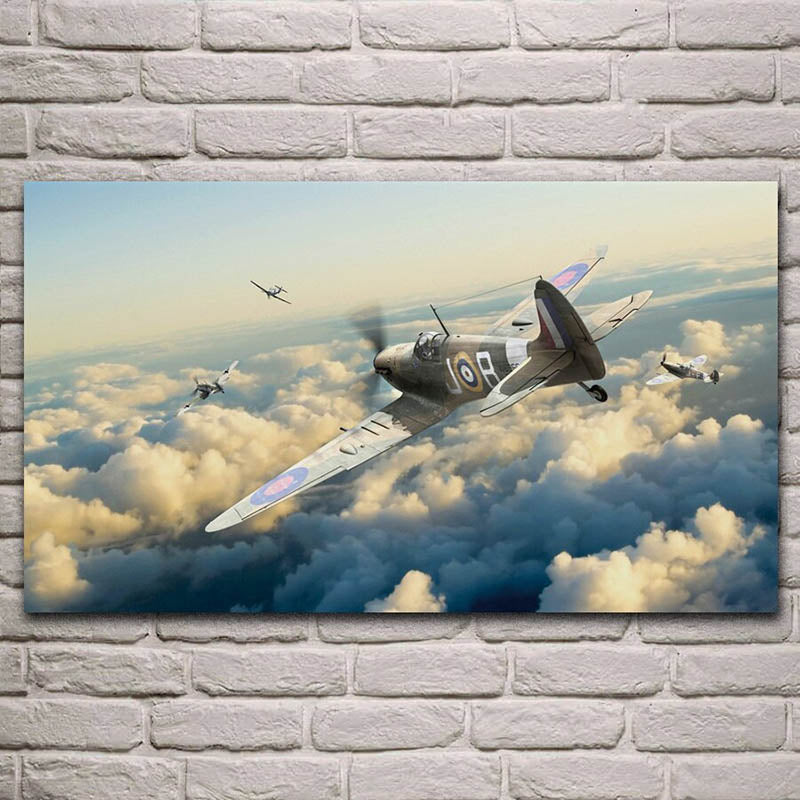 Tableau Avion <br> Spitfire  Dogfight