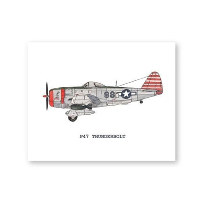 Tableaux Avions Seconde Guerre P47 Thunderbolt