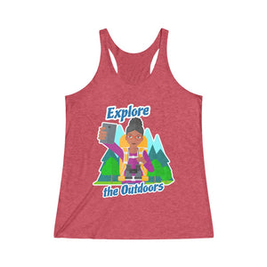 Explore the Outdoors Selfie Women's Racerback Tank