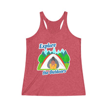 Load image into Gallery viewer, Explore the Outdoors In Tent Women's Racerback Tank