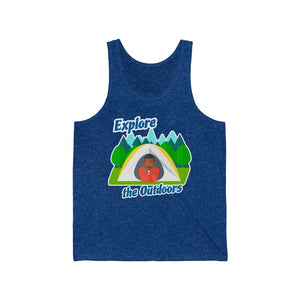Explore the Outdoors In Tent Men's Jersey Tank