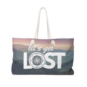 Let's Get Lost Weekender Bag