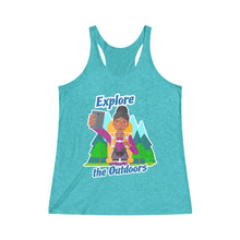 Load image into Gallery viewer, Explore the Outdoors Selfie Women's Racerback Tank