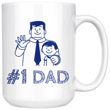 Load image into Gallery viewer, Number 1 Dad, Best Dad Mug