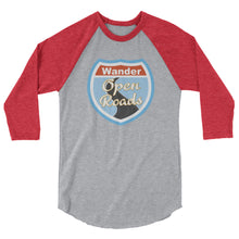 Load image into Gallery viewer, Wander Open Roads 3/4 sleeve raglan shirt