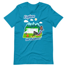 Load image into Gallery viewer, Ladies Explore the Outdoors Short-Sleeve T-Shirt
