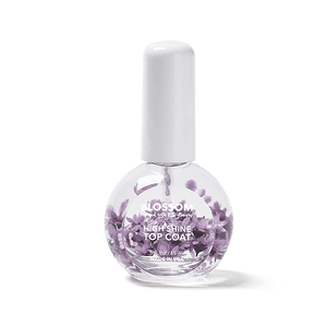 Blossom high shine top coat with purple flowers