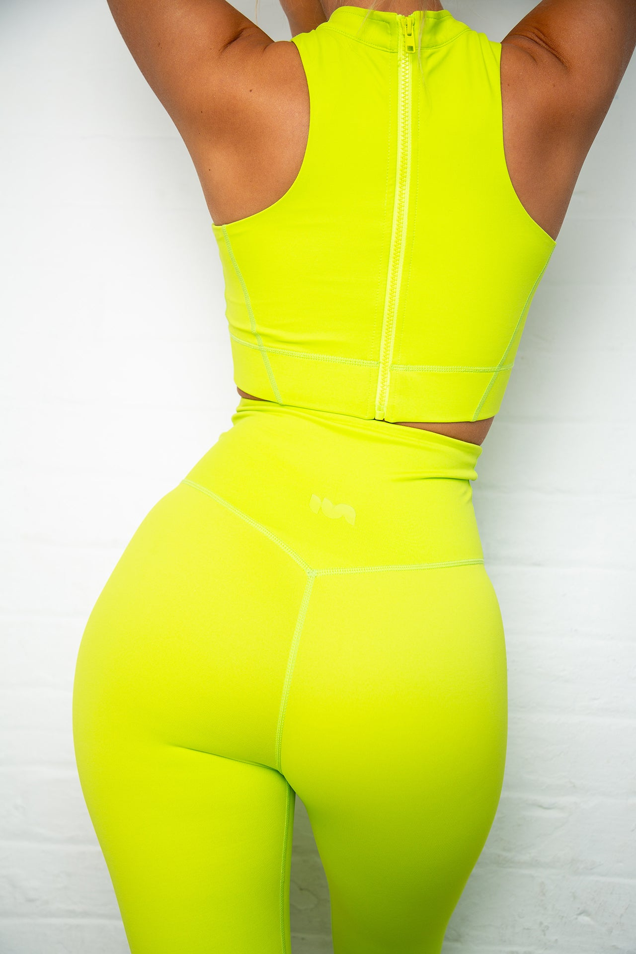 Acid Green Athena Racer Sport Crop