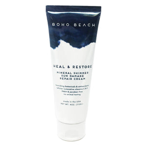 Boho Beach Heal & Restore Mineral Shimmer Sun Damage Repair Cream 4 oz.
