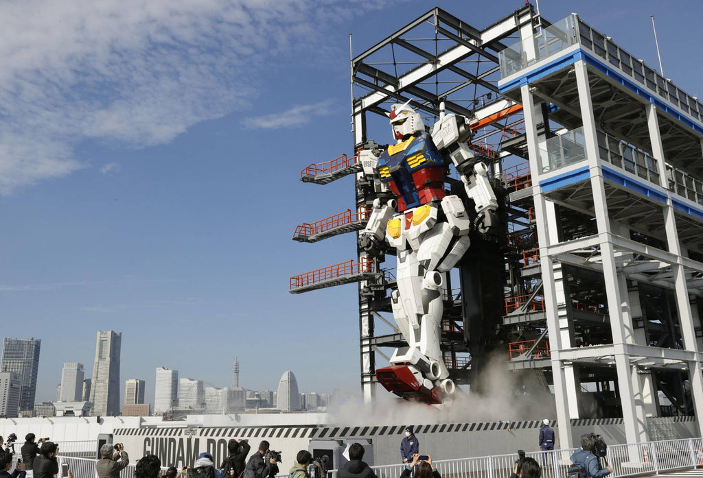 Gundam Robot Moving