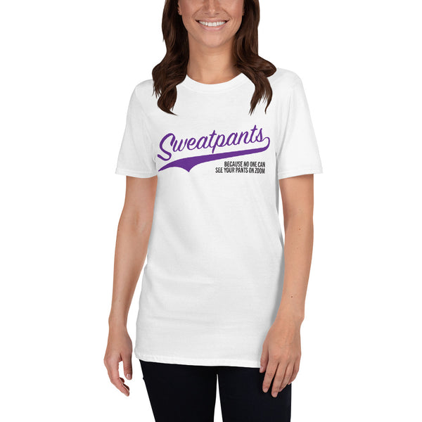 "Short-Sleeve Unisex ""Sweatpants"" T-Shirt"