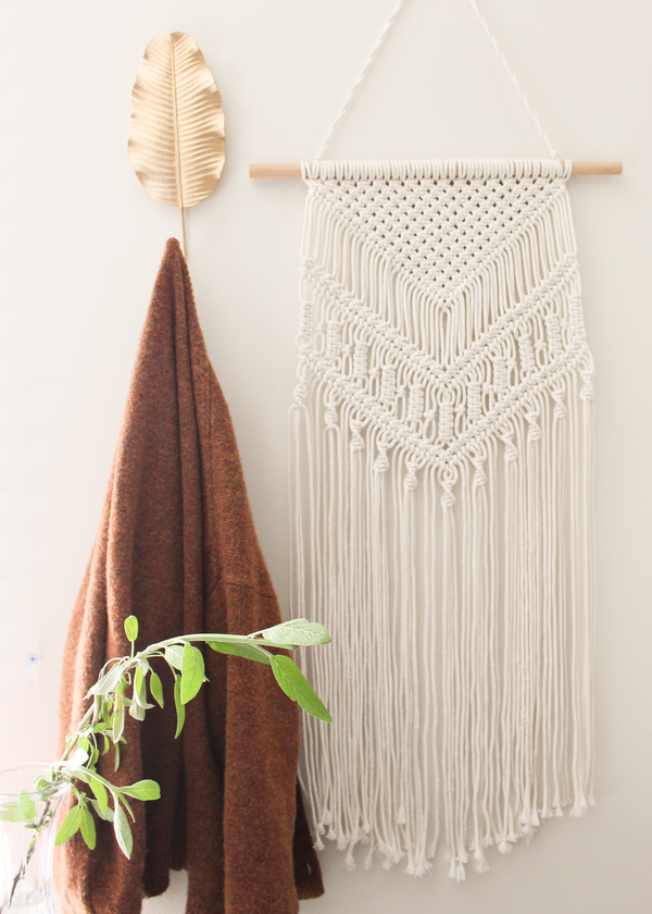 Babylonian Cotton Large & Long Macrame Wall Hanging Hippie Wall Tapestry