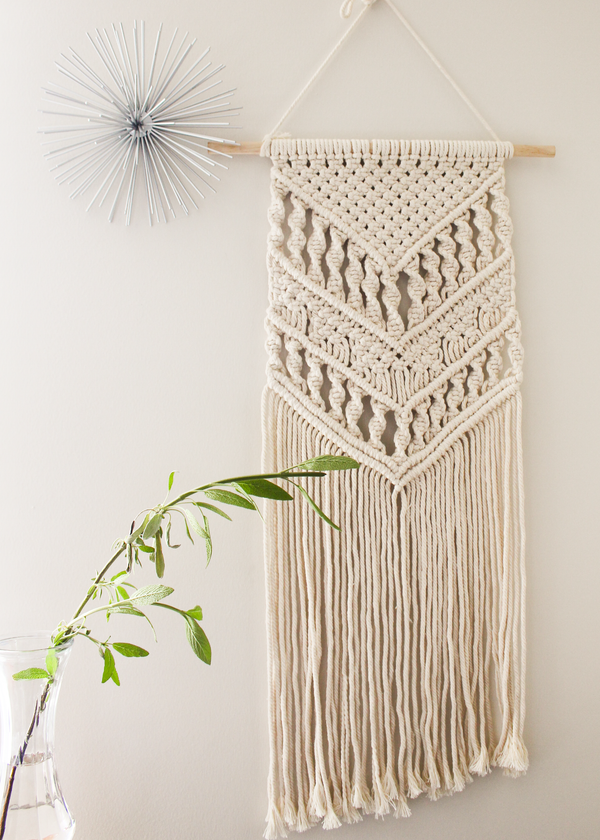 Spirited Cotton Large & Long Macrame Wall Hanging Hippie Wall Tapestry