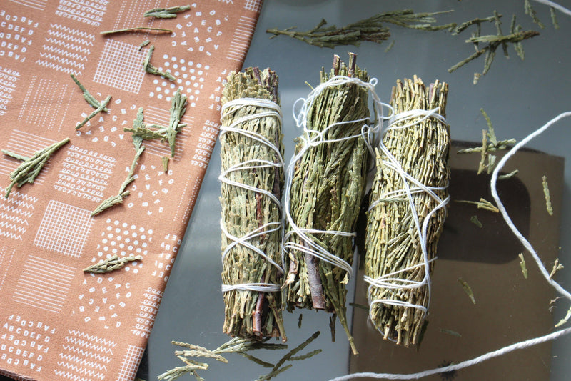 "Cedar Smudge - 4"" Herbal Smudges - Smudge Sticks - Smudge Bundle - Smudging Set - Smudge Stick Set of 3 - Pure Chakra"