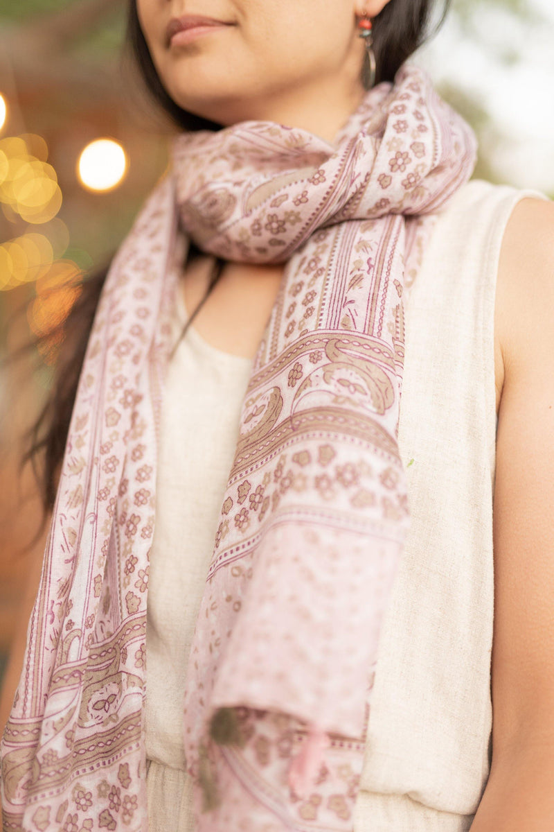 Blush Pink Long Lightweight Scarf - Breathable Hip Scarf - Autumn Scarf - Festival Scarf - Rectangular Scarves