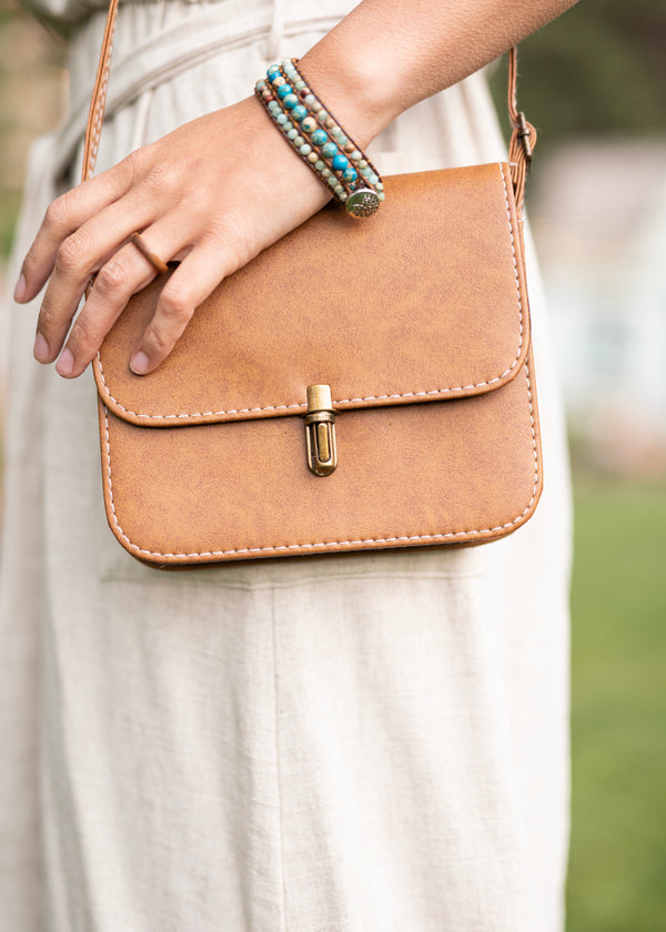 Love in a Purse - Brown Small Crossbody Purse - Hippie Bag - Hippie Purse - Cell Phone Purse - Faux Small Leather Purse