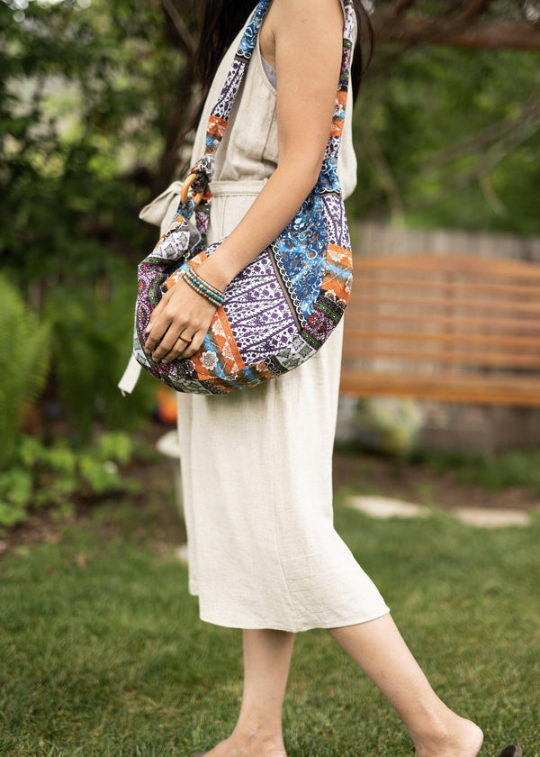 Bliss in a Bag Womens Cotton Canvas Bag - Crossbody Purse - Messenger Bag - Hippie Bag - Sling Purse