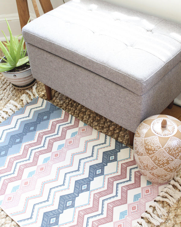 Chevron Geometric Rug - Patterned Rug - Rectangular Rug - Colorful Rug - Morrocan Rug