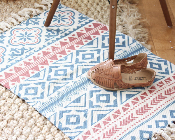 Mykonos Geometric Rug - Rectangular Rug - Colorful Rug - Morrocan Rug - Mexico Rug