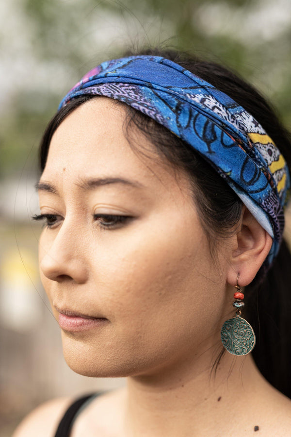 Sonata Wide Hippie Wide Headband - Washable Mask - Cloth Face Mask - Multifunctional Headband - Buff Gaitor