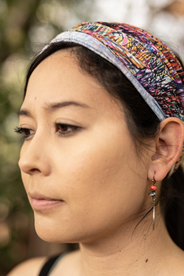 Scratch & Scribbles Hippie Wide Headband - Washable Mask - Face Mask Adults - Multifunctional Headband - Buff Gaitor
