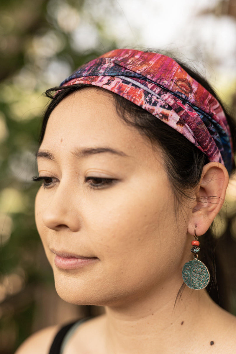 Racing Dreams Hippie Wide Headband - Washable Mask - Cloth Face Mask - Multifunctional Headband - Buff Gaitor