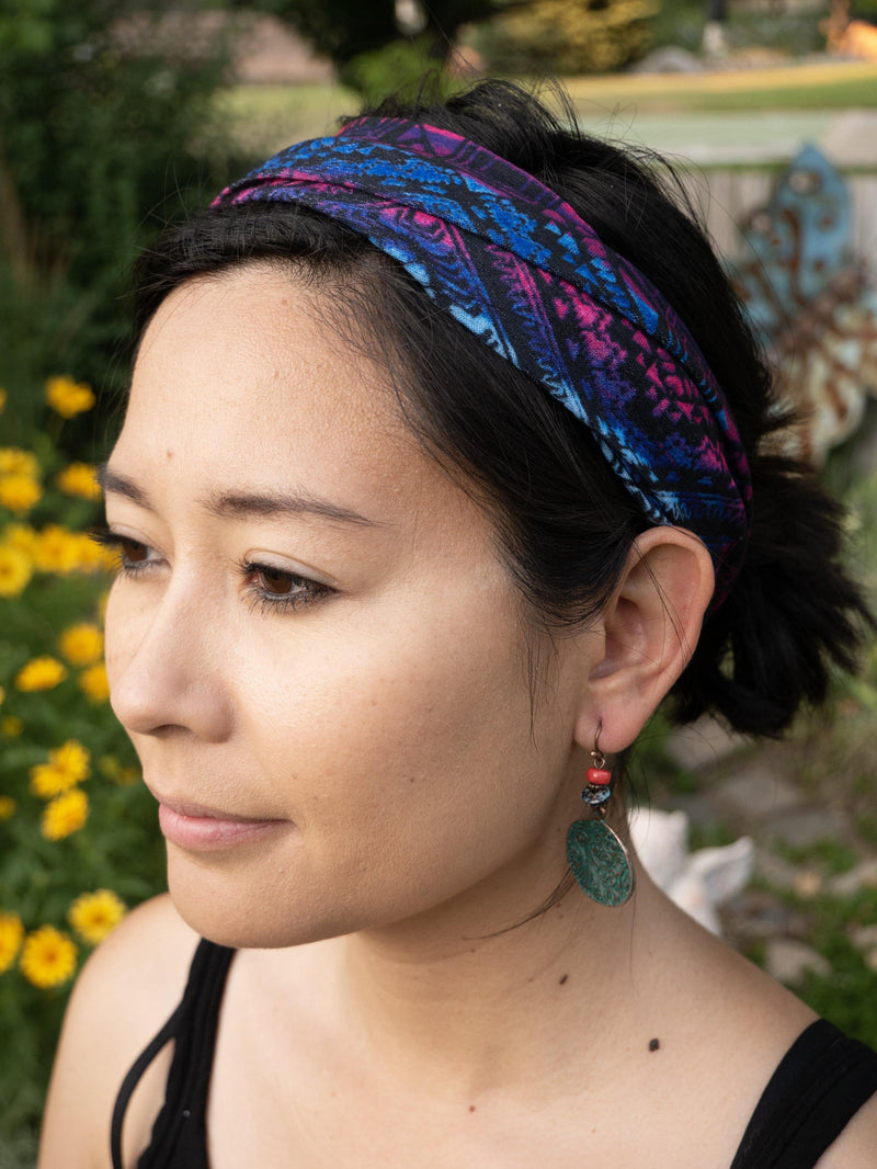 Sheer Romantic Hippie Headband - Wide Headband - Multi-functional Mask - Washable Face Mask