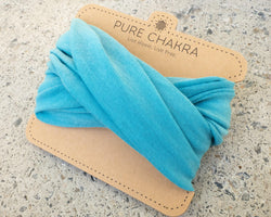 Pure Sky Blue Multifunctional Headband & Mask - Nurse headband – Scrunch Headband – Yoga Headband - Pure Chakra