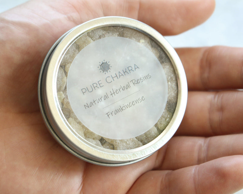 Pure Frankincense Natural Herbal Resins - Incense Resin - Charcoal Resin Burner - Pure Chakra Resins