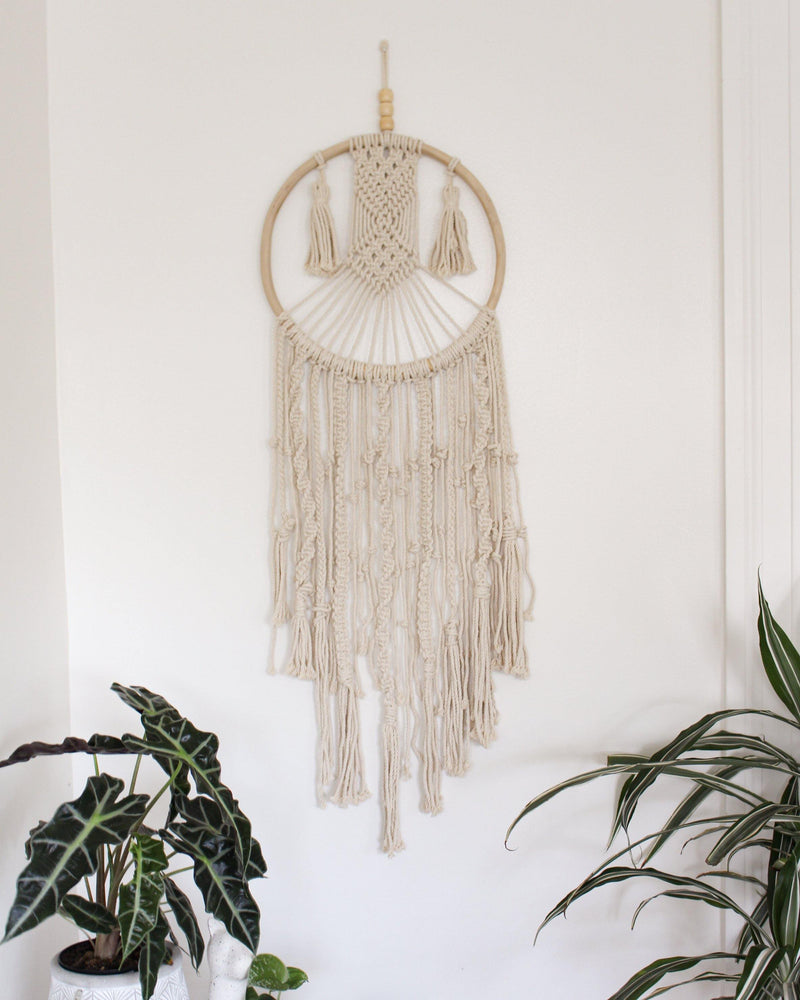 Eternal Geometric Cotton Large & Long Macrame Wall Hanging Hippie Wall Tapestry