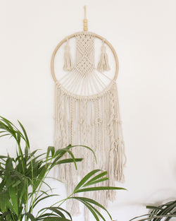 Eternal Geometric Cotton Large & Long Macrame Wall Hanging Hippie Wall Tapestry - Pure Chakra