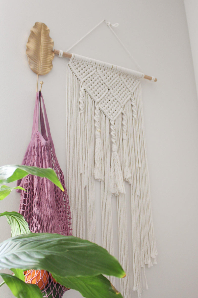 Arawakan Geometric Cotton Large & Long Macrame Wall Hanging Hippie Wall Tapestry - Pure Chakra