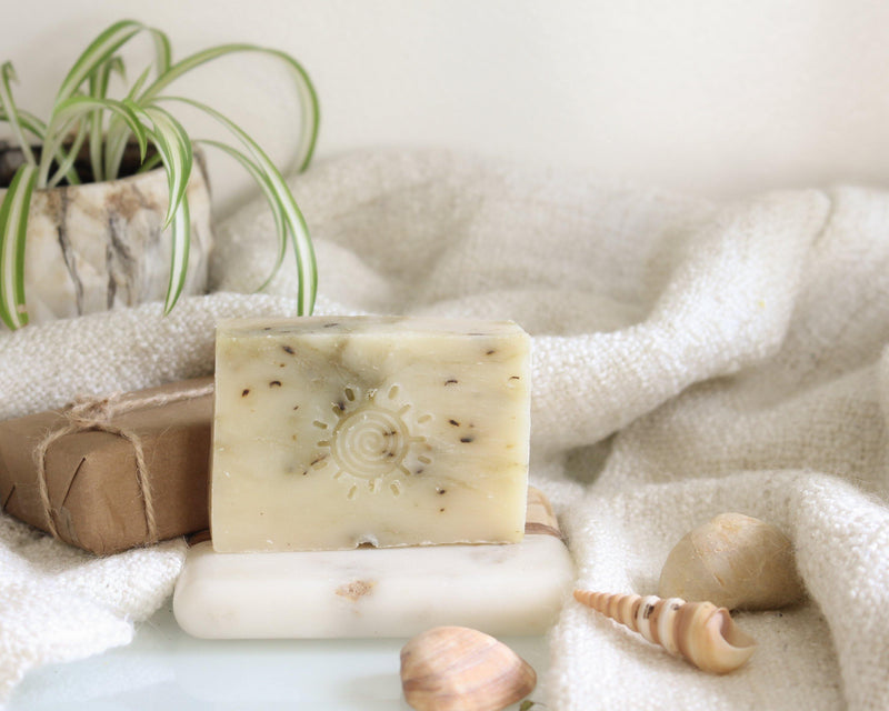 Peppermint Tea Tree Organic Soap Bar - Homemade Soap Bar - Handmade Soap Bar - Essential Oil Soap
