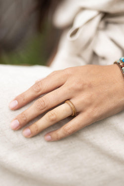 Willow Double Layered Rosewood & Olive Womens Wood Ring - Wood Resin Ring - Wood Band - Fidget Ring