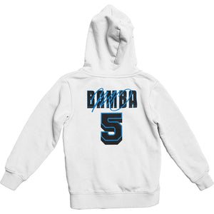 Mo Bamba Signature White Hoodie - Blue Print Back