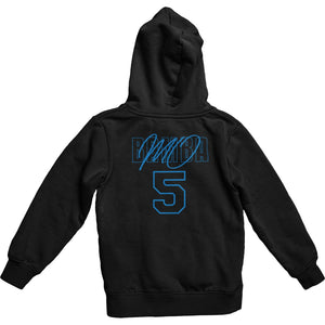 Mo Bamba Signature Black Hoodie - Blue Print Back