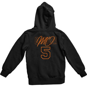 Mo Bamba Signature Black Hoodie - Orange Print Back